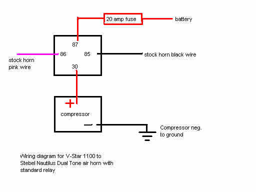 Horn realy diag car air horn wiring diagram wolo horns installation \u2022 free wiring Train Horn Wiring Diagram at couponss.co