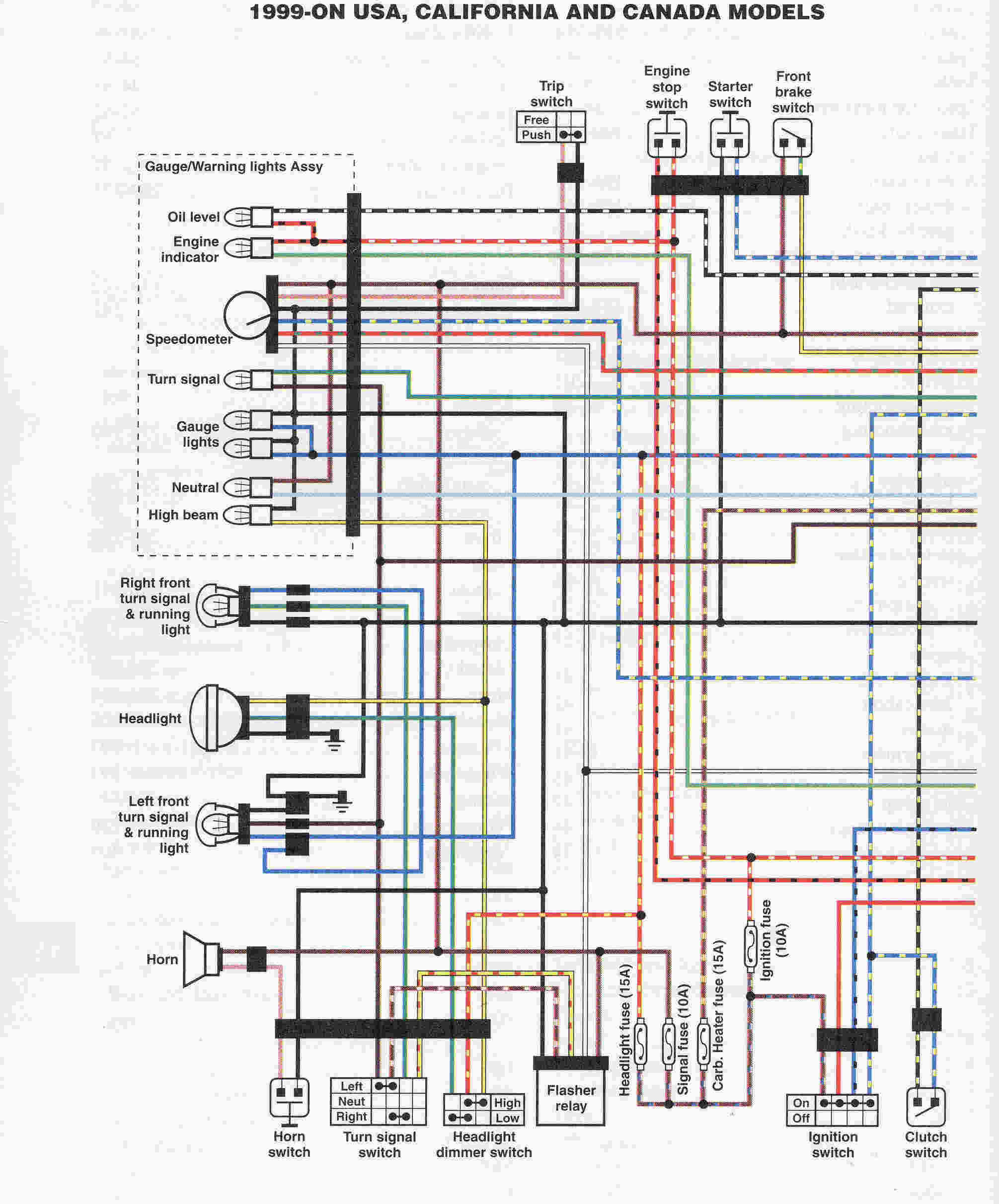Wiring US 01 yamaha yfm350xp warrior atv wiring diagram and color code 2001 yamaha roadstar 1600 wiring diagram at soozxer.org