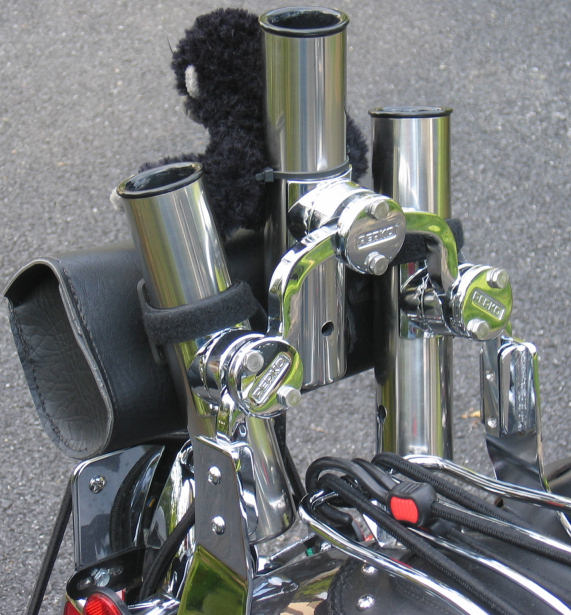 Clamp On Flag Pole Holder : Silverback s gorilla his ride
